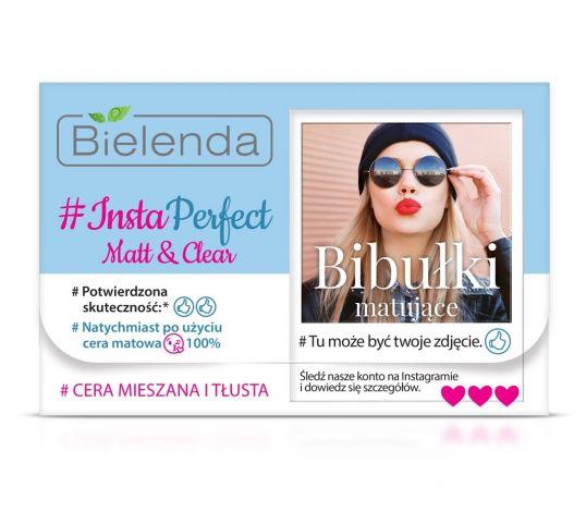 Bielenda # Insta Perfect Matt & Clear Bibułki matujące do twarzy 1 op. - 100 szt. w drogerii horex.pl