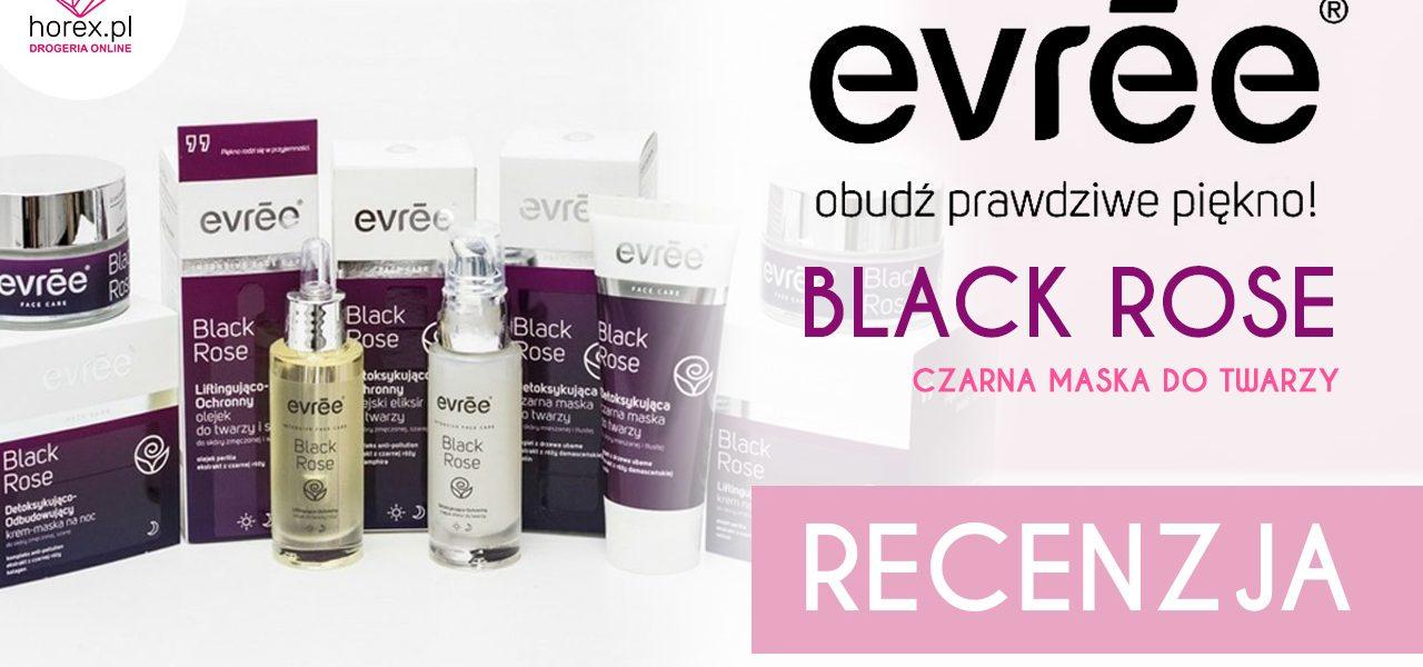 Evree Black Rose Czarna maska do twarzy