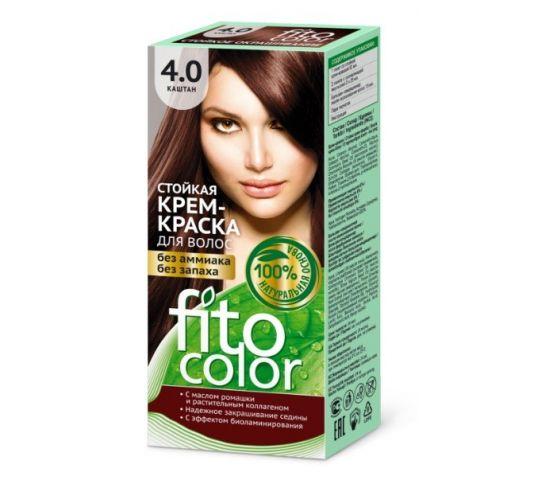 Fitocosmetics Fitocolor farba - krem do włosów nr 4.0 kasztan 80 ml w drogerii horex.pl