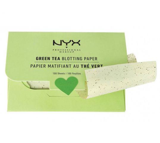 NYX Blotting Paper Green Tea bibułki matujące 100szt w drogerii horex.pl