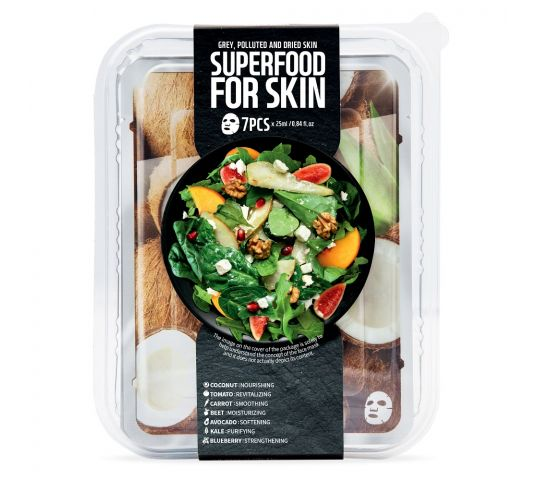 Superfood For Skin Grey Polluted And Dried Skin 7x25 ml