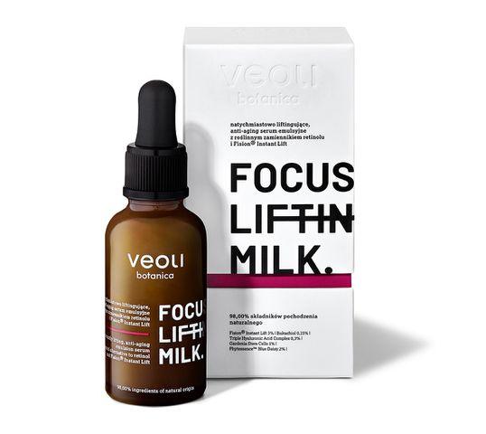 Veoli Botanica Focus Lifting Milk liftingujące serum emulsyjne do twarzy z bakuchiolem (30 ml)