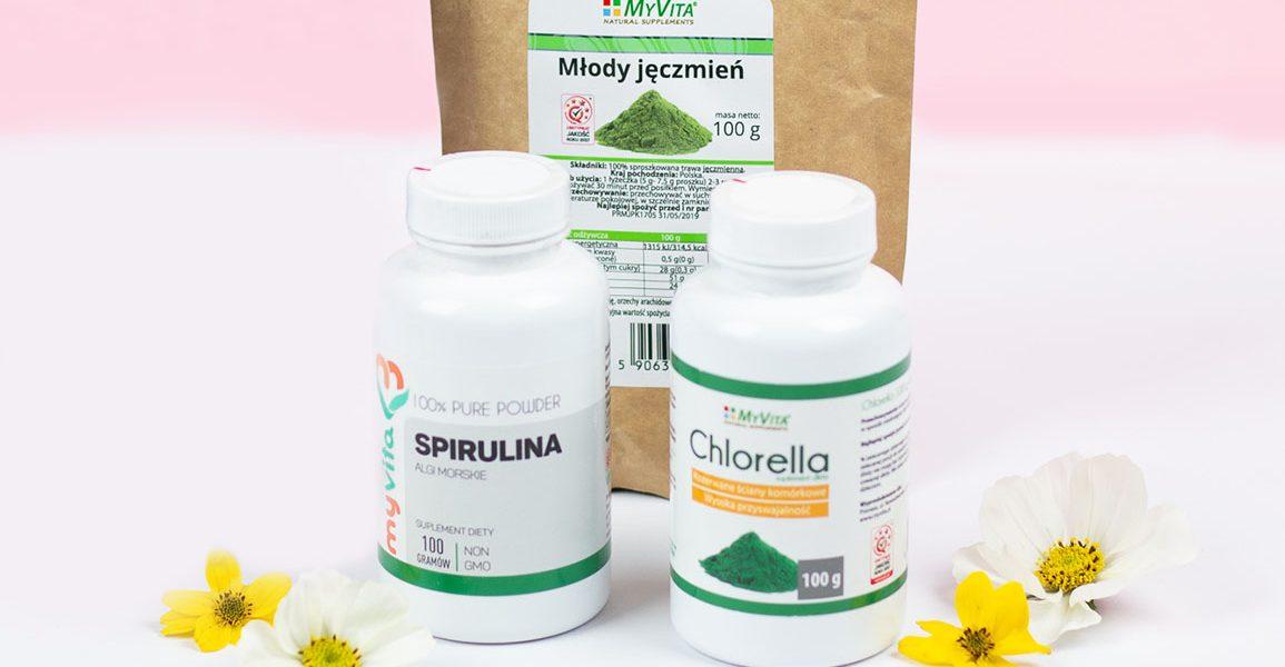 Zielone suplementy diety – 3 propozycje dla Ciebie!