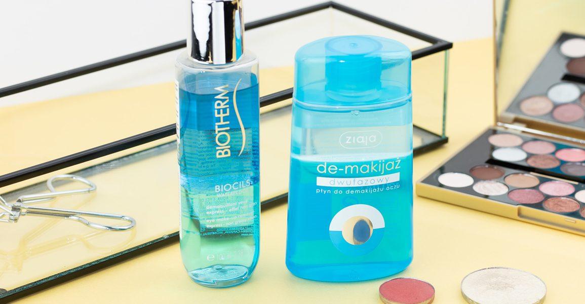 Dwufazowy płyn do demakijażu – propozycje kosmetyków do demakijażu oczu