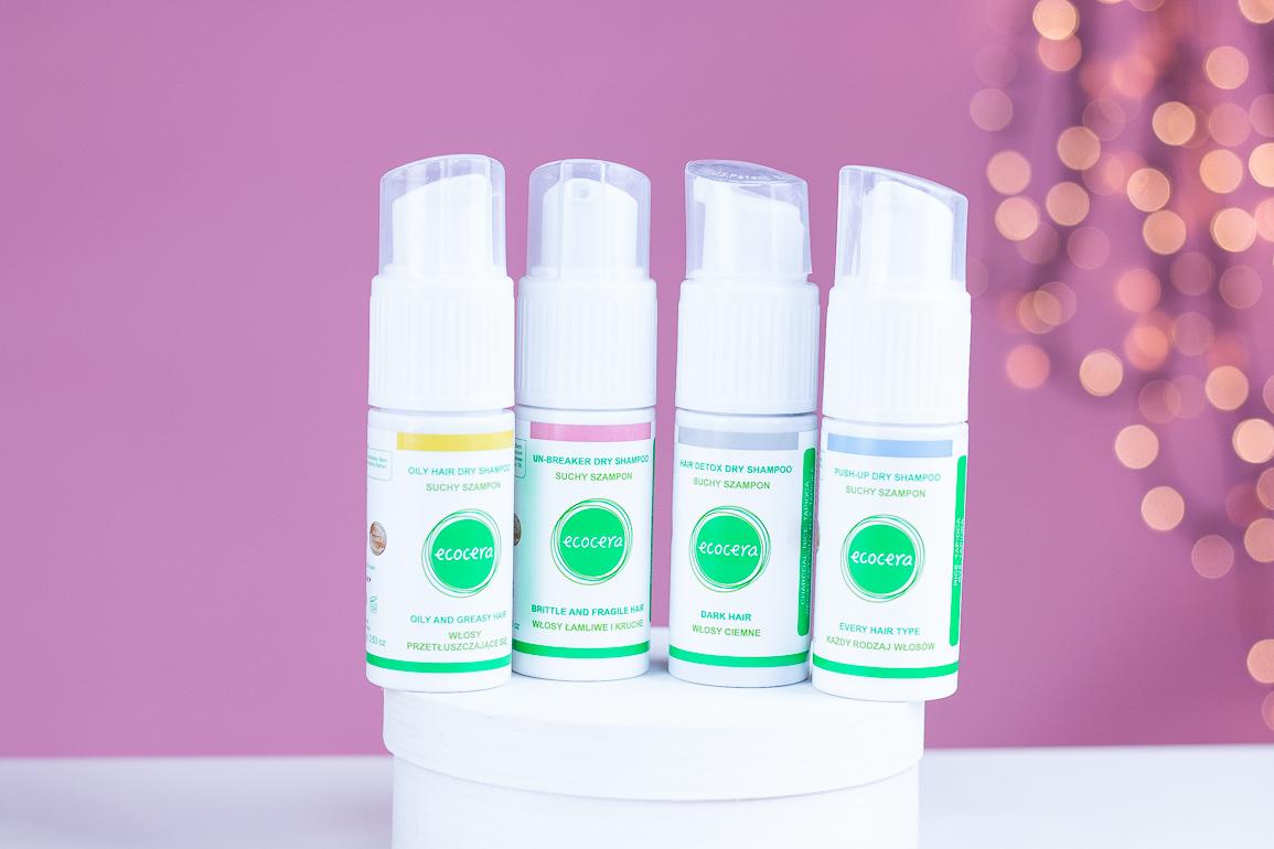 ecocera suche szampony 4 rodzaje