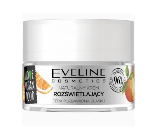 Eveline I love vegan food krem rozświetlający camu camu pomarańcza