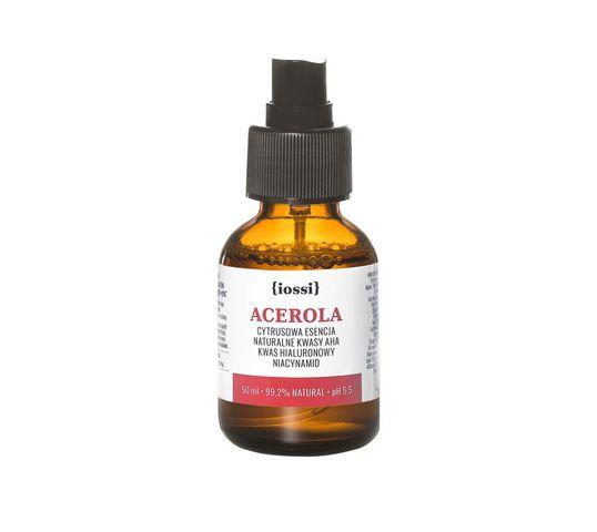 iossi – Acerola cytrusowa esencja z naturalnymi kwasami AHA kwasem hialuronowym i niacynamidem (50 ml)