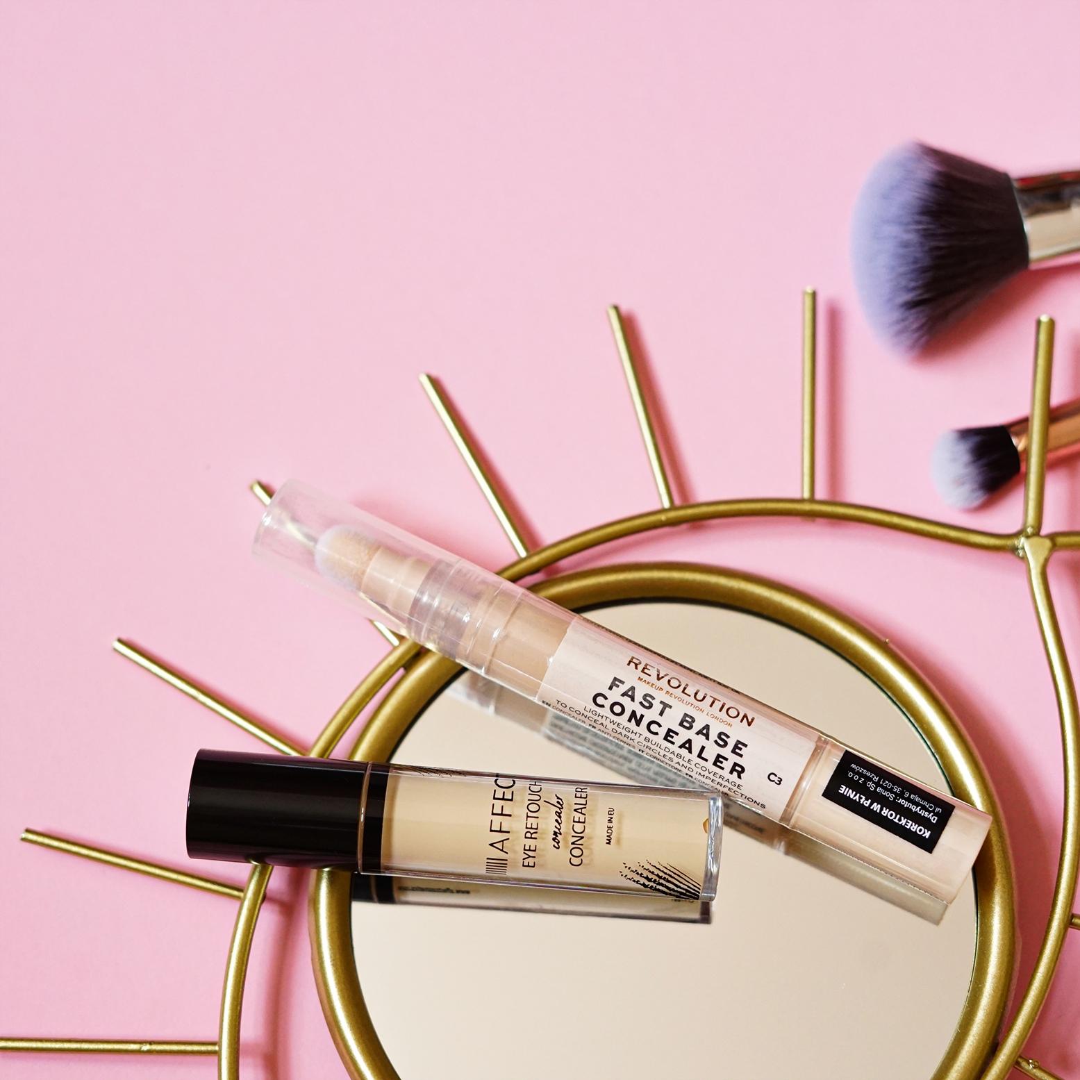 korektory pod oczy Affect i Makeup Revolution