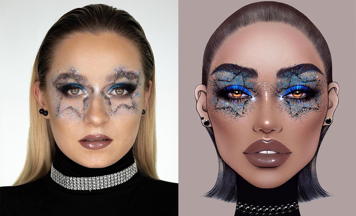 makijaż artystyczny face chart