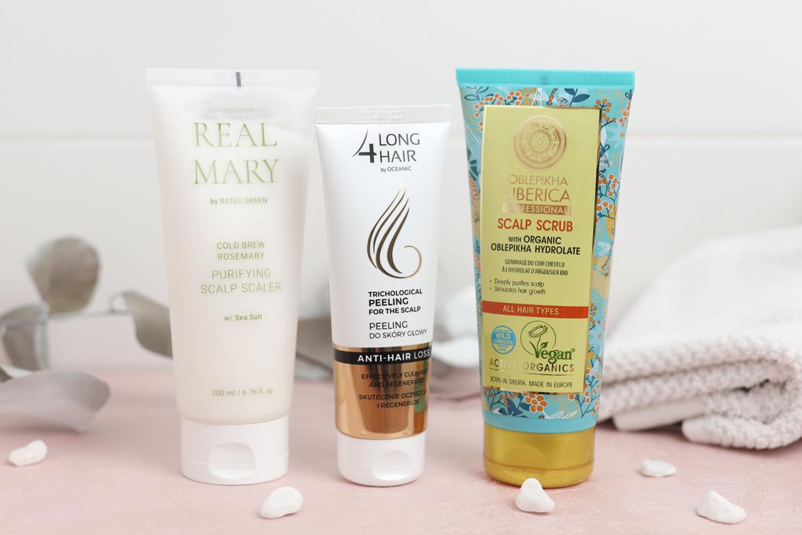 peeling do skóry głowy zestaw kosmetyków