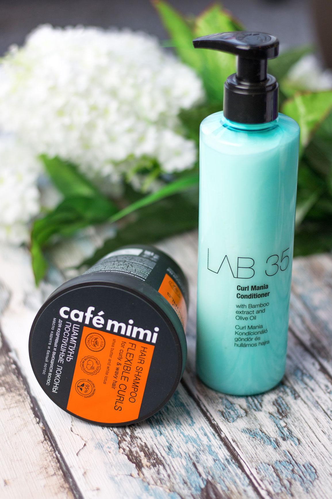 Odżywka do włosów kręconych Lab 35 i szampon Cafe Mimi