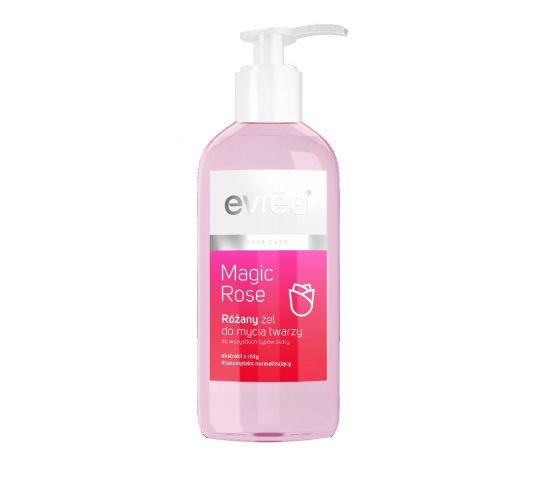 Evree Magic Rose Żel do mycia twarzy różany z pompką 200 ml w drogerii horex.pl