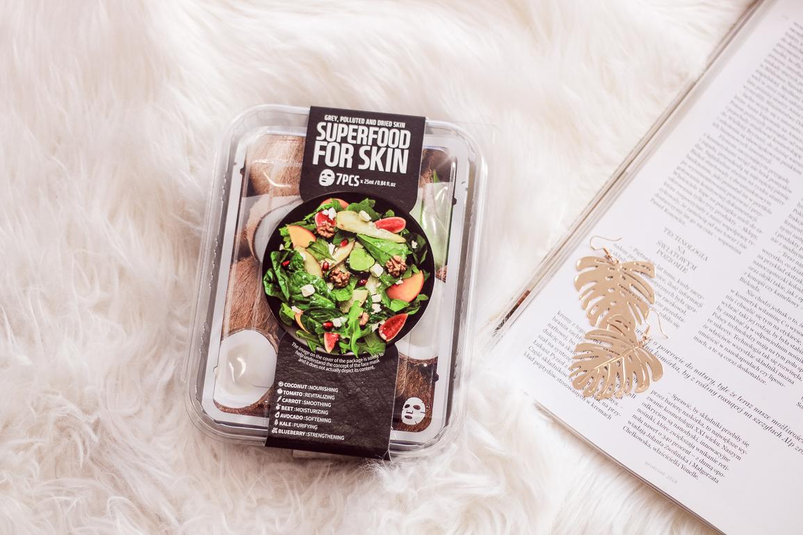 Zestaw masek w płachcie Superfood For Skin