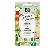 AA Voyage Voyage 2w1 peeling kremowy+maska kremowa migdał&pomelo (2 x 5 ml)