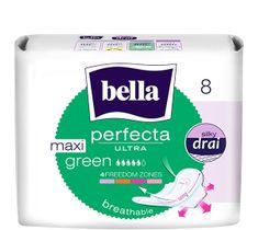 Bella Perfecta Green Maxi Podpaski ultra cienkie silky dry  (1op. - 8 szt.)
