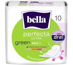 BELLA Perfecta Green Podpaski ultra cienkie silky dry  (1op. - 10 szt.)