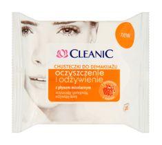 Cleanic Chusteczki do demakijażu twarzy Oczyszczenie i Odżywienie - każdy typ cery 1 op - 20 szt.