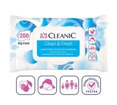 Cleanic Chusteczki nawilżane uniwersalne Clean&Fresh 1 op. - 200 szt.
