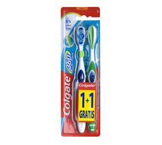 Colgate 360° Whole Mouth Clean szczoteczka miękka 1+1 gratis