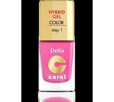 Delia Cosmetics Coral Hybrid Gel Emalia do paznokci nr 22 landrynkowy róż 11 ml