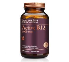 Doctor Life Active B12 aktywna witamina B12 1000mcg metylokobalamina aktywna witamina B12 suplement diety 100 kapsułek