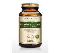 Doctor Life Graviola Extract wyciąg z grawioli 4500mg suplement diety 90 kapsułek