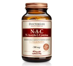 Doctor Life N-A-C n-acetylo-l-cysteina 500mg suplement diety 60 kapsułek