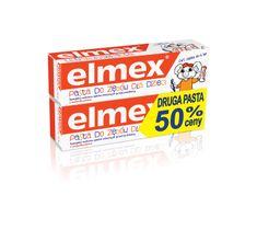 Elmex pasta do zębów dla dzieci 0 do 6 lat + druga 50%  50 ml x 2