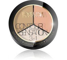 Eveline Contour Sensation – puder do twarzy 3w1 Peache Beige (20 g)
