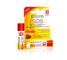 Eveline SOS – pomadka - balsam ochronny do ust Strawberry (4.5 ml)