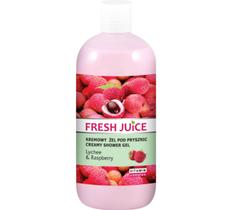 Fresh Juice żel pod prysznic kremowy liczi i malina (500 ml)