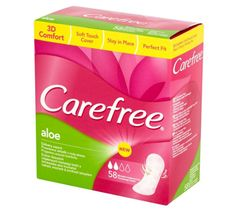 Carefree – wkładki higieniczne cotton aloe (58 szt.)