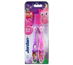 Jordan Duo Soft Clean szczoteczka do zębów dla dzieci (3-5 lat) miękka 1 op - 2 szt.