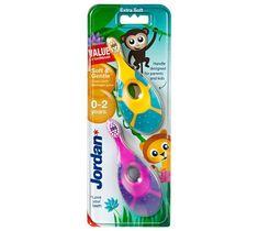 Jordan Duo Soft & Gentle szczoteczka do zębów dla dzieci (0-2 lat) bardzo miękka 1 op - 2 szt.