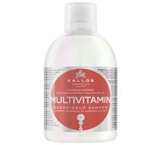 Kallos Multivitamin Energising Hair Shampoo With Ginsegn Extract witaminowo-energizujący szampon do włosów z ekstraktem ginsegna i olejem avokado 1000ml