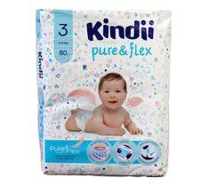 Kindii Pure & Flex Pieluchy jednorazowe 3 (4-9kg) 1 op. - 60 szt.
