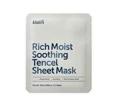 Klairs Rich Moist Soothing Tencel Sheet Mask regenerująca maska bawełniana na twarz 25ml