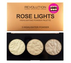 Makeup Revolution Highlighter Palette Rose Lights – rozświetlacze do twarzy (15 g)