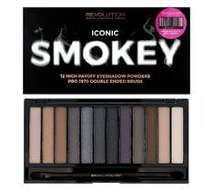 Makeup Revolution Redemption Palette Iconic Smokey – paleta cieni do powiek (14 g)