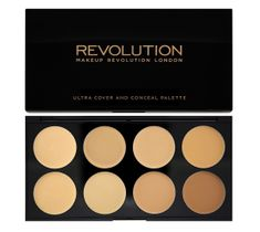 Makeup Revolution Ultra Cover and Concealer Palette - korektory Light-Medium pod oczy i do twarzy (10 g)