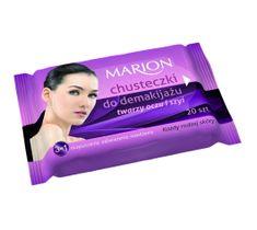 Marion – chusteczki do demakijażu twarzy, oczu i szyi (1 op.)