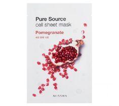 Missha Pure Source Cell Sheet Mask bawełniana maska na twarz Pomegranate 21g