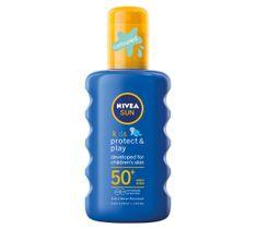 Nivea Sun Kids Protect & Play nawilżający spray ochronny na słońce dla dzieci SPF50 (200 ml)