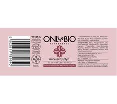 OnlyBio Fitosterol – płyn micelarny do demakijażu twarzy (30 ml)