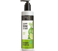 Organic Shop Organic Lime & Basil Shower Gel Foamy Oil pieniący się olejek pod prysznic 280ml