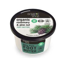 Organic Shop Organic Rosemary & Pine Nut Foot Butter masło do stóp Niebieska Sosna 250ml