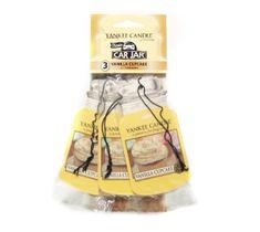 Yankee Candle Car Jar Bonus Pack zestaw zapachów samochodowych Vanilla Cupcake 3sztuki