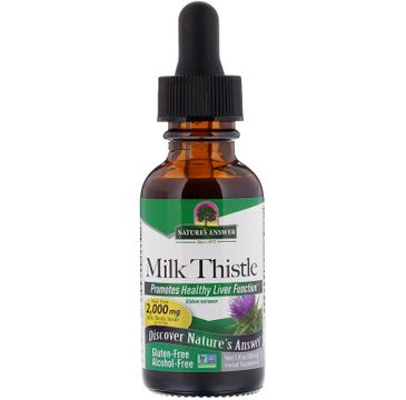 Nature's Answer Milk Thistle ekstrakt z nasion ostropestu plamistego suplement diety w kroplach 30ml