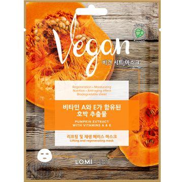 Lomi Lomi Vegan Sheet Mask – wegańska maseczka w płachcie Dynia (20 ml)