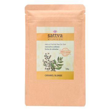 Sattva – Natural Herbal Dye for Hair naturalna ziołowa farba do włosów Carmel Blonde (100 g)
